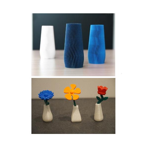 Bloemen en vazen